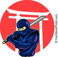 Japanese Ninja - vector Illustration of Japanese ninja