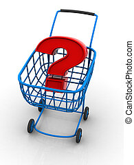 Consumer\'s basket with question.