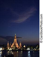 ASIA THAILAND BANGKOK - the temple of Wat arun at the Chao...