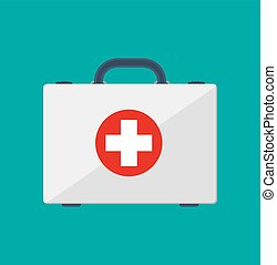 first aid kit. Healthcare, hospital and medical diagnostics....