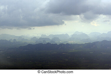 ASIA THAILAND KRABI - the landscape near Krabi in the south...