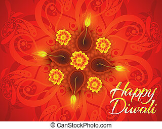 abstract detailed diwali background - abstract artistic...