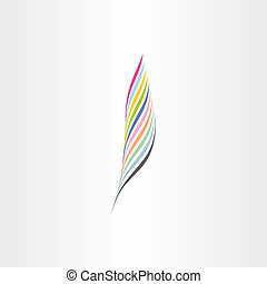 colorful feather vector icon clip art
