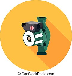 flat icon hydraulic pump in vector format eps10