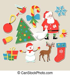 set of stickers Christmas