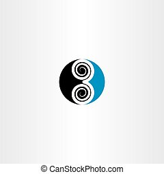 logo 3 three number vector symbol icon blue black
