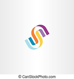 s letter icon logo clip art vector colorful sign