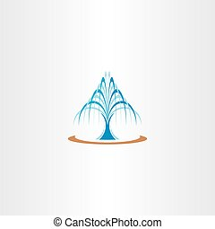 spring water fountain icon vector illustration