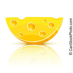 piece of yellow cheese