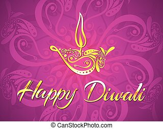 abstract artistic diwali purple background vector...