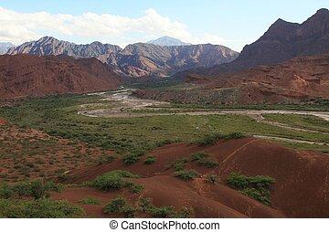 Quebrada de Cafayate in the Valles Calchaquies in Salta...
