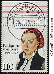 postmark - GERMANY- CIRCA 1999: stamp printed by Germany,...