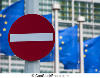 European commission sanctions against Russia concept - No...