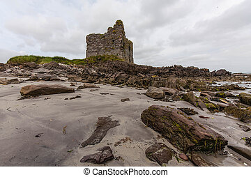 Ruin on the Ring of Kerry - Old ruin on the ring of kerry in...