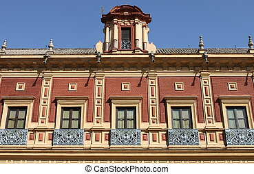 Baroque windows in Sevilla, Spain