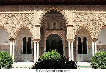 Patio in the Royal Alcazar of Sevilla, Spain