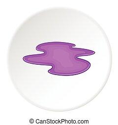 Puddle icon, flat style - Puddle icon. Flat illustration of...