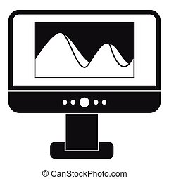 Computer monitor with photo on screen icon