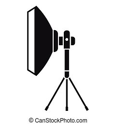 Studio lighting equipment icon, simple style - Studio...