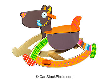 Toy dog rocking chair - Toy dog colorful funny rocking chair...