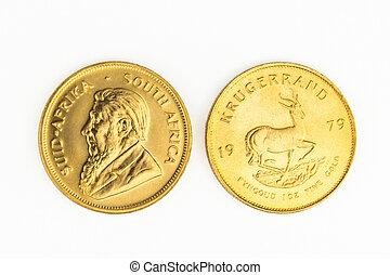 1 OZ gold coin - One Krugerrand gold coin - 1 OZ gold coin -...