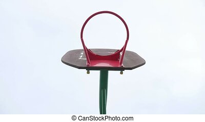 basketball old hoop basketball sport yard - basketball old...