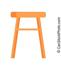 Stool Vector Illustration in Flat Design - Stool vector in...