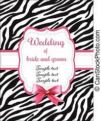 Wedding invitation zebra stripes