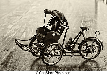 Miniature of trishaw or rickshaw ,vintage style