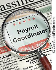 Now Hiring Payroll Coordinator. 3D. - Payroll Coordinator....