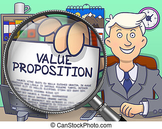 Value Proposition through Lens. Doodle Design. - Value...