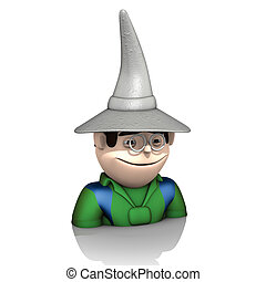 wizard hat - illustration, wizard hat on a white background