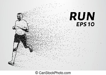 Run out of particles. Run out of points and circles. Runner...