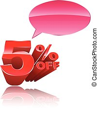 5 percent off 3D style