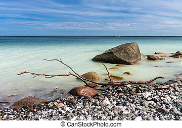 On shore of the Baltic Sea on the island Ruegen, Germany.