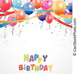Happy Birthday greetings card - Vector Illustration of Happy...