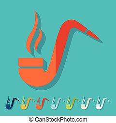 Flat design: tobacco pipe