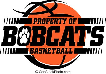 bobcats basketball team design with ball for school, college...