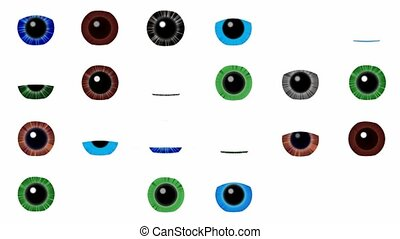 Many eyes sees many - Abstract animation of the winking...