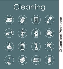 Set of cleaning simple icons - It is a set of cleaning...