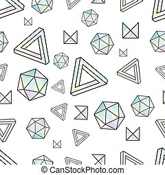 Seamless pattern with holographic elements. Memphis style....