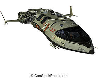 futuriste, vaisseau spatial