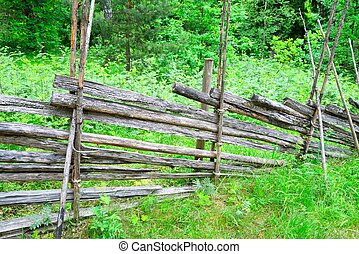 Traditional Finnish rural wooden fence