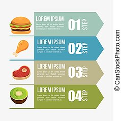 nutritions infographic presentation icons
