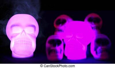 Spooky Skulls In Light - 4K Resolution Ultra HD UHD