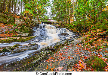 Potts Falls in Fall - Potts Falls are located near the town...