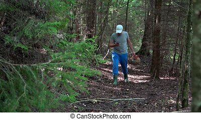 Lost mushroom picker using smart phone gps signal to get out...