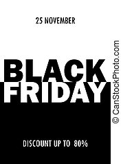 Black friday sale. Vector