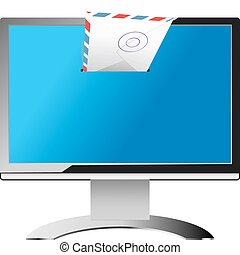 email - vector concept illustration of electronic mail...