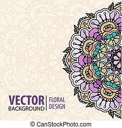 Decorative floral element border.